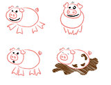 Piggy Scribbles