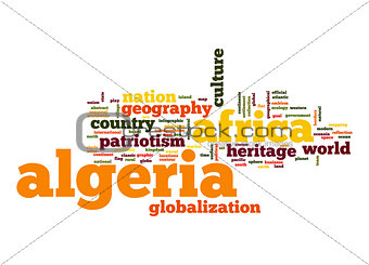 Algeria word cloud