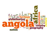 Angola word cloud