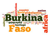 Burkina Faso word cloud