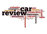 Car review word cloud