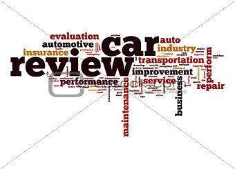 Car review word cloud