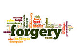 Forgery word cloud