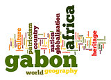 Gabon word cloud