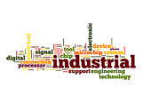 Industrial word cloud