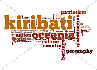Kiribati word cloud