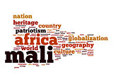 Mali word cloud