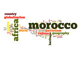 Morocco word cloud
