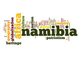 Namibia word cloud