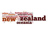 New Zealand word cloud