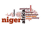 Niger word cloud