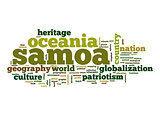 Samoa word cloud