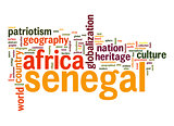 Senegal word cloud