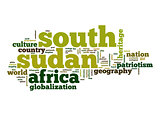 South Sudan word cloud