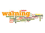 Warning word cloud