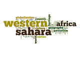 Western Sahara word cloud