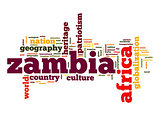 Zambia word cloud