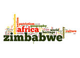 Zimbabwe word cloud