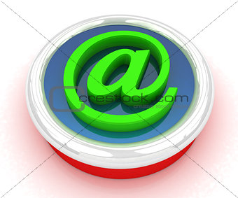 3d button email Internet push