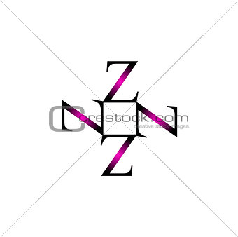 Artwork with alphabet Z