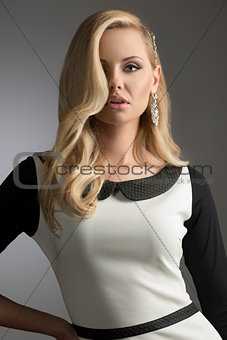 charming fashion blonde girl