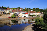 River Vezere in the market town of Le Bugue