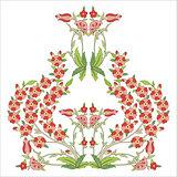 Ottoman art flowers sixteen