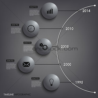 Abstract info graphic time line round element template