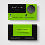 Modern sample green business card template