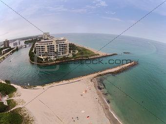 Coastal inlet in Boca Raton, Florida