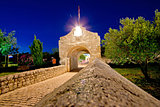 Historic stone gate entrance of Nin