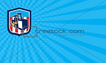 Business card Forklift Truck Materials Logistics Shield Retro