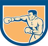 Boxer Boxing Punching Shield Cartoon