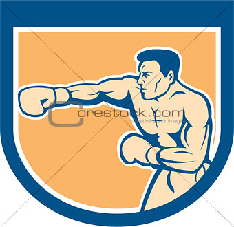 Boxer Boxing Punching Shield Cartoon