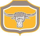 Bull Head Snorting Shield Retro