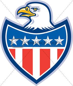 American Bald Eagle Flag Shield Retro