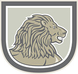 Lion Big Cat Head Side Shield