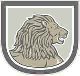 Lion Big Cat Head Side Shield