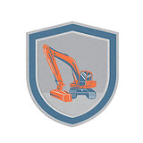 Metallic Mechanical Digger Excavator Retro Shield