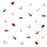 Editable vector illustration of a collection of cartoon insects