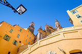 Architecture of Menton, France.