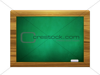 3d chalkboard of green color with chalk