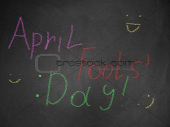 April fools on blackboard