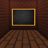 Room with chalkboard