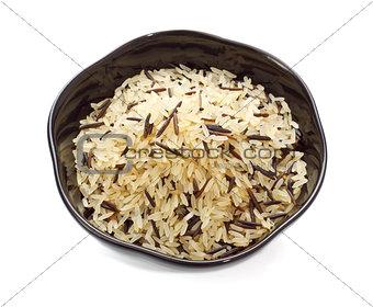 Bowl Of Raw Rice