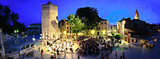 ZADAR, CROATIA -  Five wells square in Zadar, Croatia -