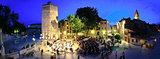 ZADAR, CROATIA -  Five wells square in Zadar, Croatia -