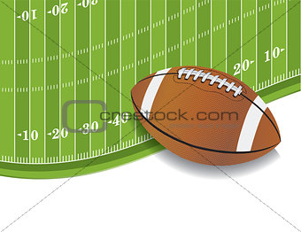 American Football Field and Ball Background
