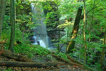 Matthiessen State Park Waterfall Illinois