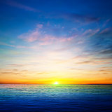 abstract spring background with ocean sunrise